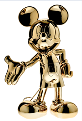 Mickey Welcome Chromed Gold by Leblon Delienne - Limited Edition Sculpture sized 15x24 inches. Available from Whitewall Galleries